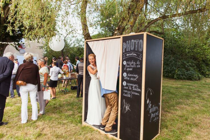 coin photobooth d'un mariage