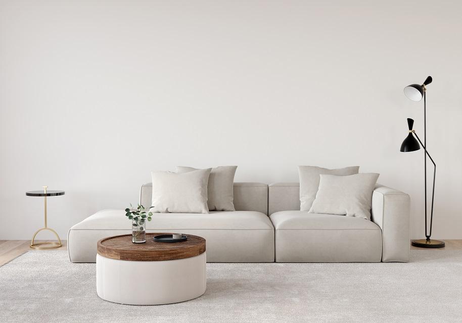 canapé lit blanc